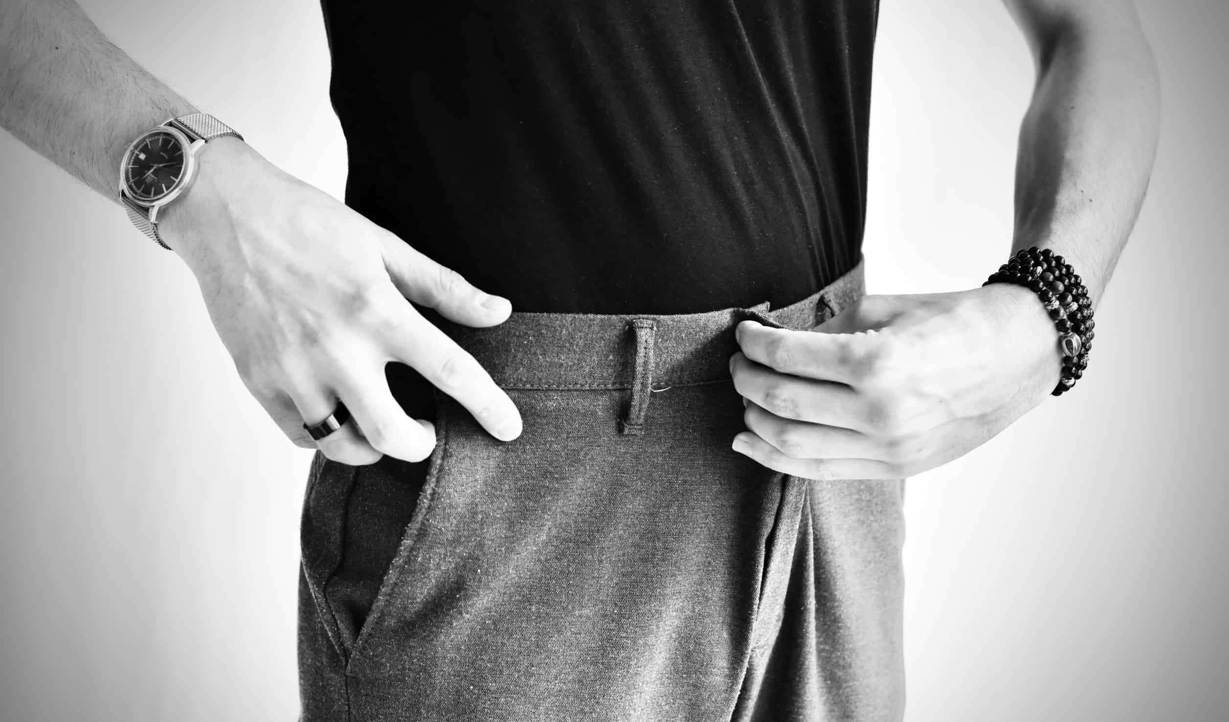 Pinning Mens Suit Trousers